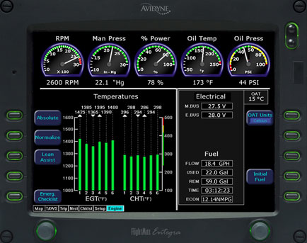 Avidyne EX500 multi-function display