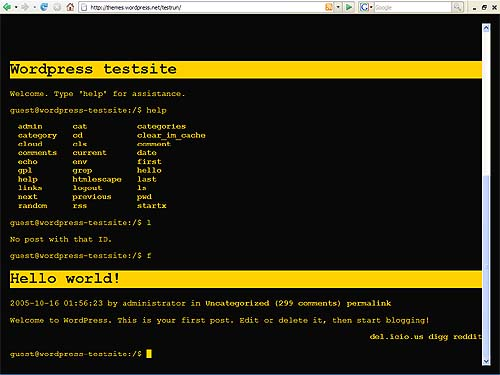 WordPress BASH command line theme
