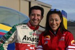 Mike Goulian and Ann Curry