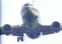 737 making a gear-up landing