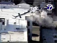 News helicopter makes a hard landing after the tail rotor fails