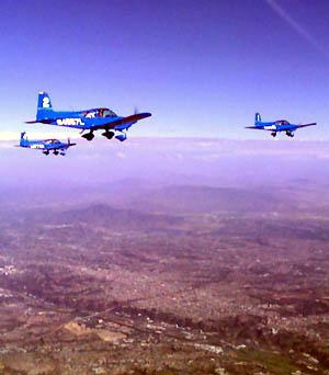 Skytypers over Mission Bay