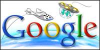 Google SpaceShipOne banner