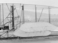Wright Flyer with a broken canard after the fifth flight attempt on Dec 17, 1903