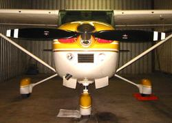 The McCauley C203 prop on my Skylane