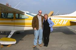 Ludmilla and I at Fresno Airport