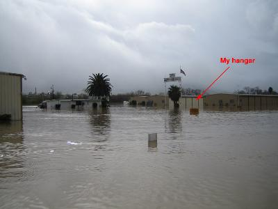 Flooding at Corona Airport