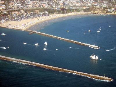 Tall ship entering Newport Harbor