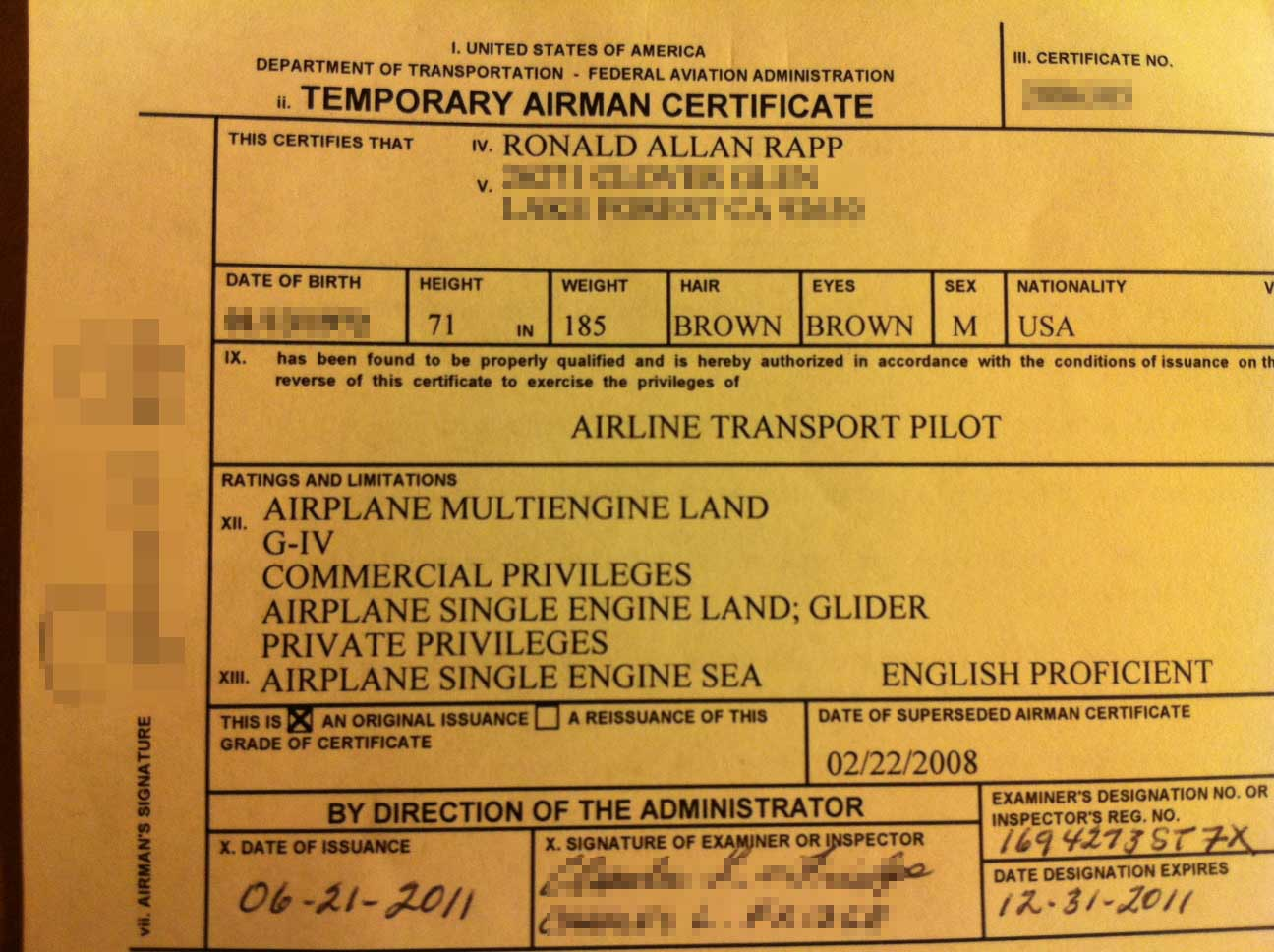 G iv type rating day 21 the house of rapp in its place rests a single 4 inch square piece of paper a temporary airman certificate its exactly the same as the old one with the exception of six 1betcityfo Images