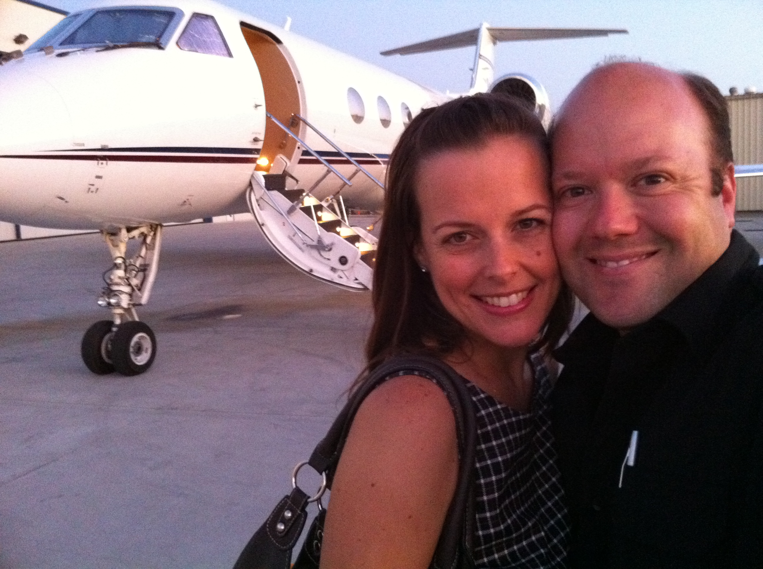 Still giving rides!  My wife gets her first flight in the Gulfstream IV.