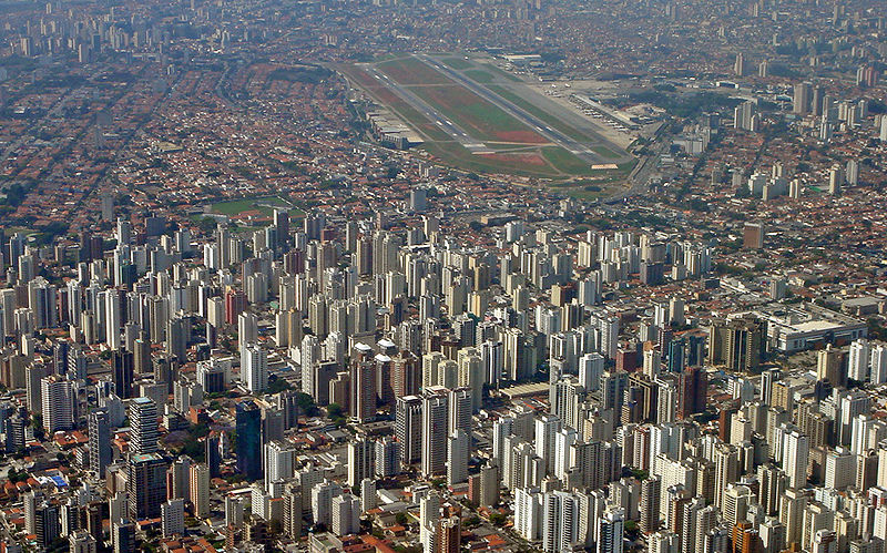 Congonhas Airport is at the top of the photo.  We departed this airport enroute to Salvador de Bahia in northern Brazil.  Sao Paulo makes Mexico City look like a tiny village.