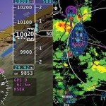 Dynon glass panel with ADS-B weather displayed