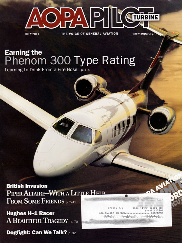 The July, 2011 cover of AOPA Pilot