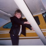 I wasn't even upset that she was standing on the main landing gear fairings. :)