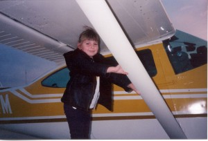 I wasn't even upset that she was standing on the main landing gear fairings.