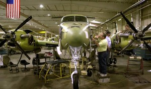 The human touch: building airplanes in the 21st century still means doing it by hand.