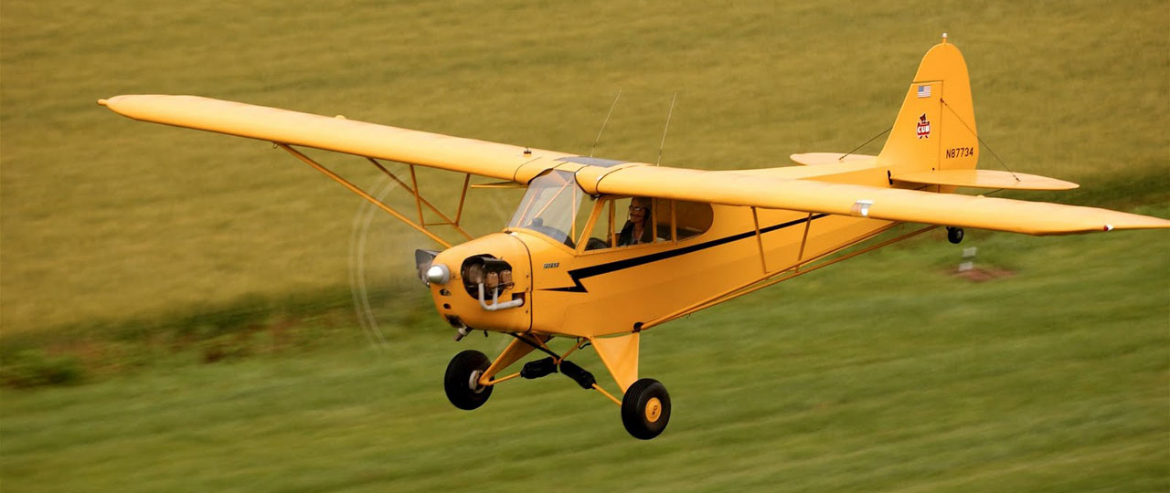 A simple Cub and a grass runway.  This is flying!