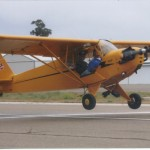 My attempt at a spot landing during the 2005 West Coast Cub Fly-In