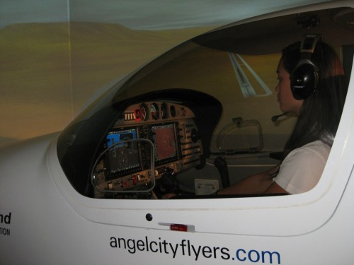Angel City Flyer's DA-42 Twin-Star flight training device.  The simulators are getting better, folks!