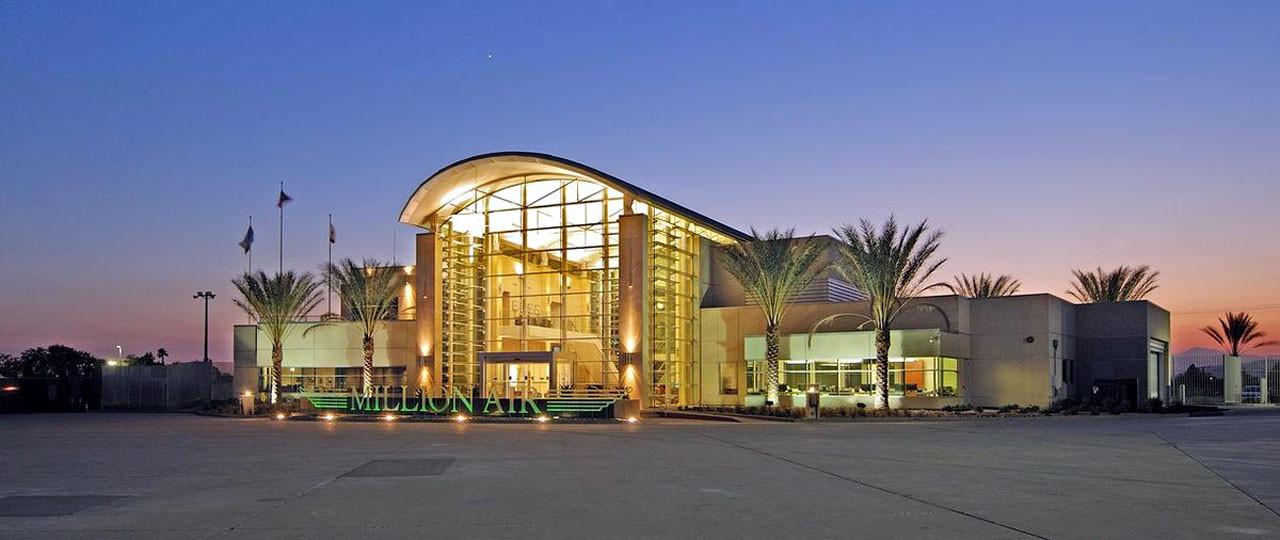 The Million Air fixed base operator at San Bernardino, CA
