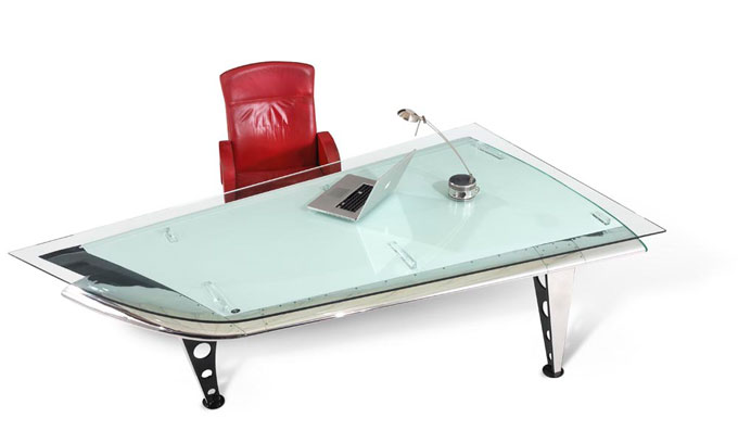 This might be the world's most well-traveled desk.  And for $18,900, it should be!
