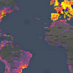 This heat map shows the most frequently photographed locales.