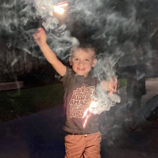 "Sparklers for all! (That's Australian for ""Happy Independence Day..."")"