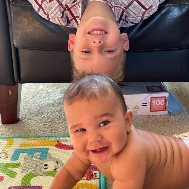 """I love my big brother!"" ❤️❤️❤️ #cutekids"