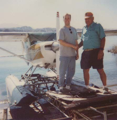 I took my seaplane rating checkride in this highly modified C150 on Lake Havasu