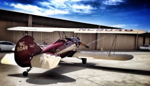 An old airplane needn't be a ratty one.  This TravelAir 4000 looks, feels, and flies like new.  It was built in 1928.