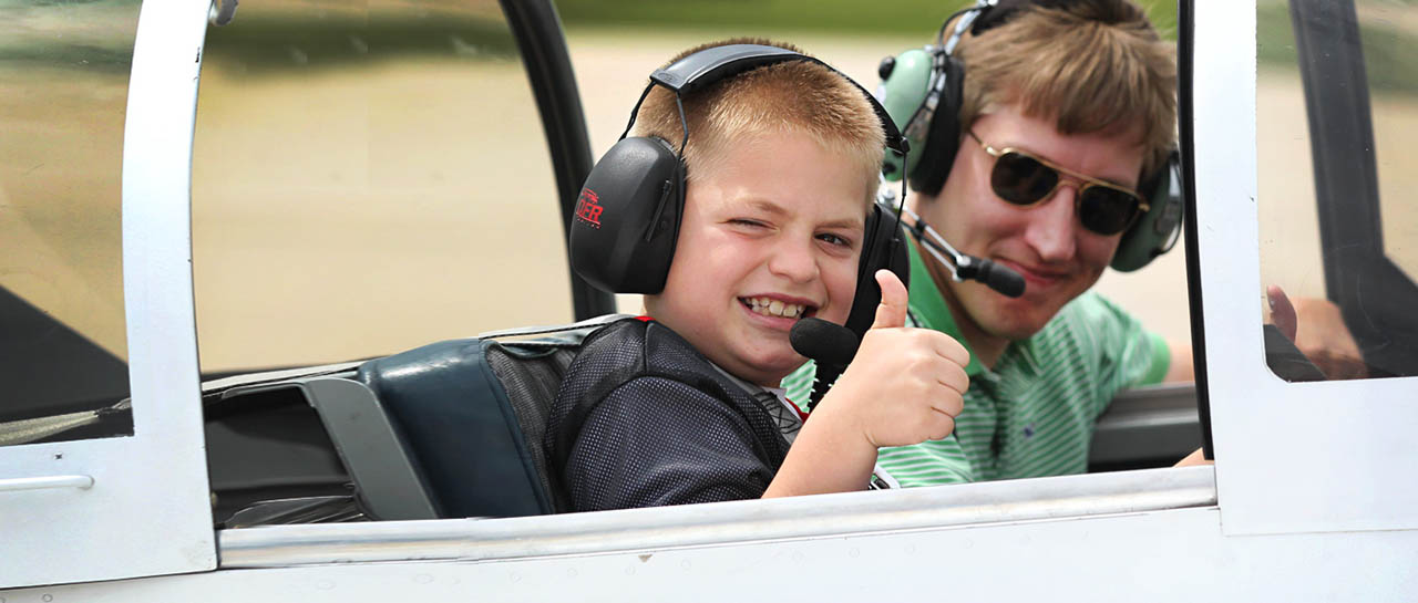 Young Eagles volunteers contribute their time, money, and aircraft in order to give kids a chance to see what aviation is all about.