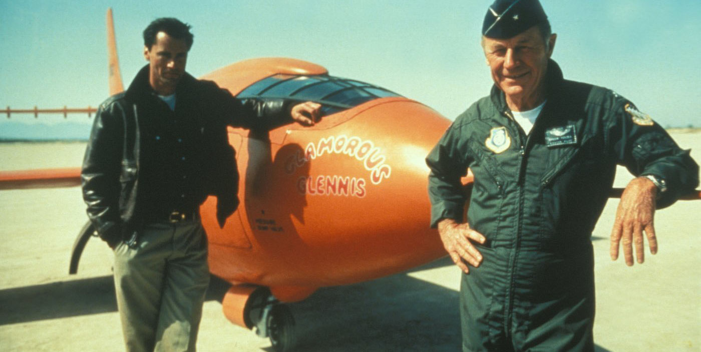 Actor.  Pilot.  Two guys with the right stuff.